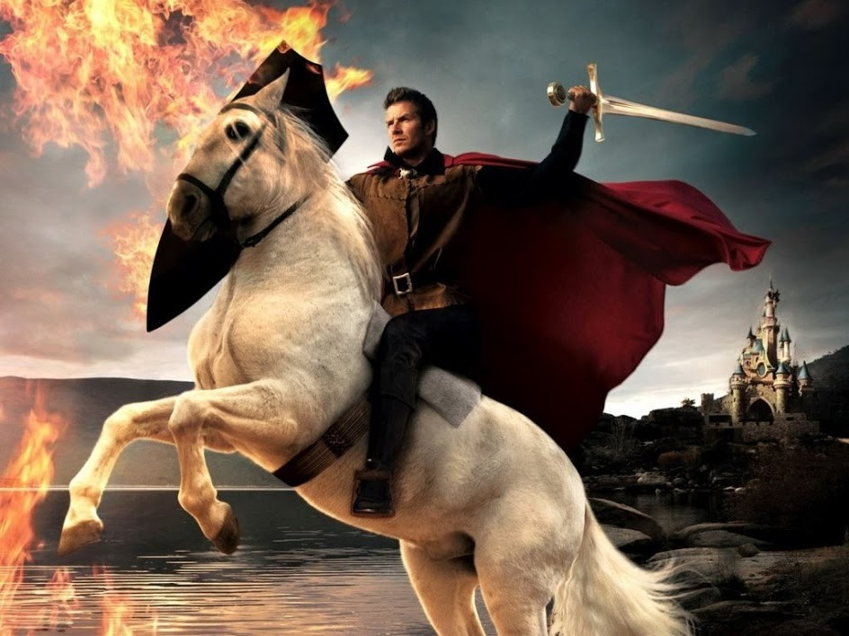 Knight On White Horse Stand Inbalance